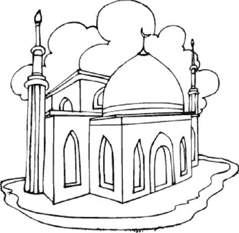 mosque coloring pages of eid and ramadan free coloring pages