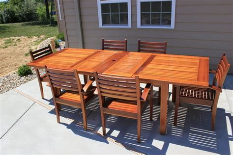 redwood patio table redwood patio table set by thepps lumberjocks