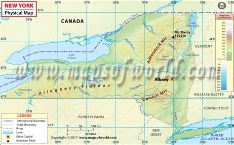 kentucky map key physical map of new york new york physical map