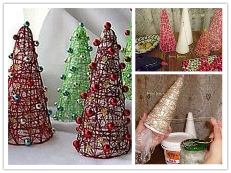 how to make cute decorative christmas trees step by step