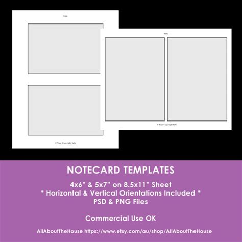 5 by 7 notecard template notecard photoshop templates 4 x 6 inch 5 x 7 inch