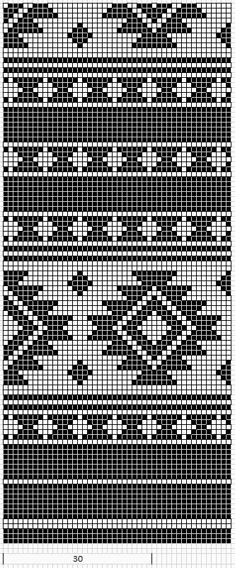 american geometric design pattern chart for cross