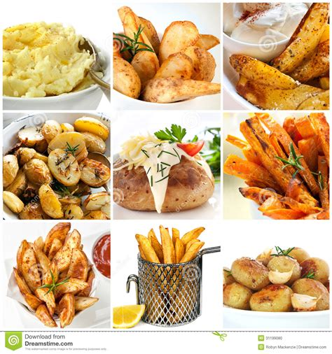 potato dishes collection stock photo image 31199080