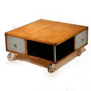 table basse sur roulettes meubles rigaud