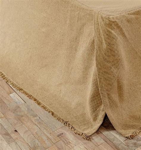 fringe bed skirt natural beige burlap fringed tailored bedskirt