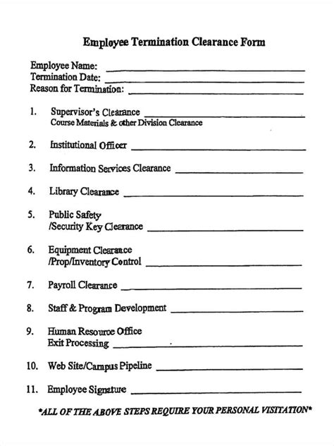 FREE 5+ Employment Clearance Forms in PDF
