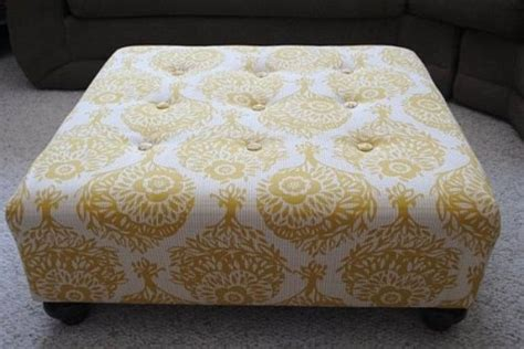 ottoman cover diy before after laura s quot simple cheap quot ottoman redo