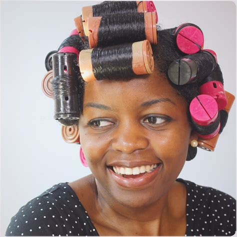 how to set hair with rollers for a pixie cut how to cheat a roller set curlynikki natural hair care