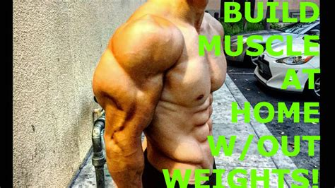 way to build without weights at home
