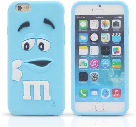 bol blauwe siliconen m m telefoonhoesje voor iphone 6 6s