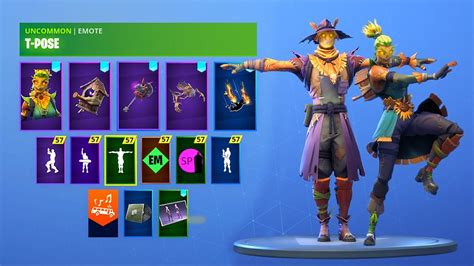 fortnite scarecrow skins  pose emote dark