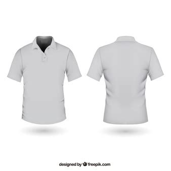 Baju Kaos Polos 515 Plain Placket Original front and back t shirt template psd file free