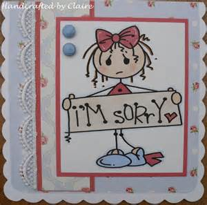 handcrafted i m sorry card by day by claireday1969 on etsy