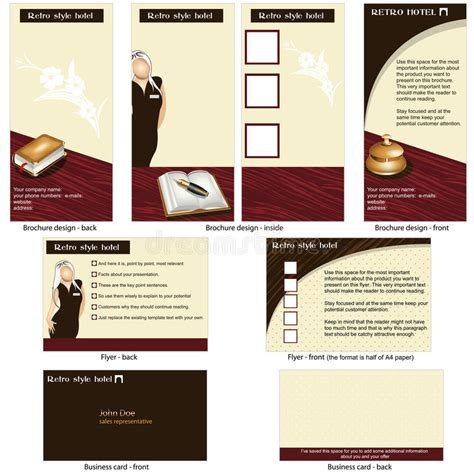 business card brochure template hotel retro template design stock photo image 32722740