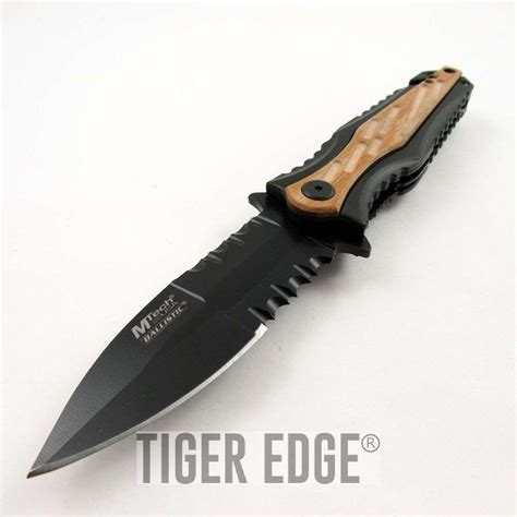 Tactical Folding Knife Dagger assist folding pocket knife mtech black serrated tactical dagger mta943lw