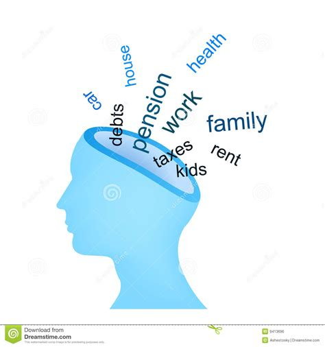 in mind trouble thoughts in mind royalty free stock image image