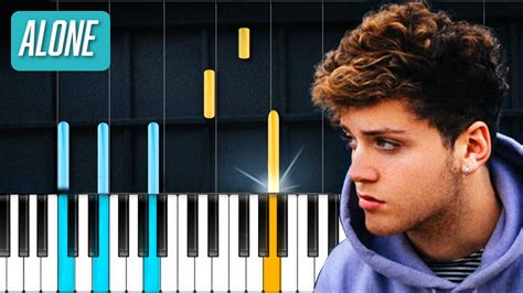 bazzi alone bazzi quot alone quot piano tutorial chords how to play