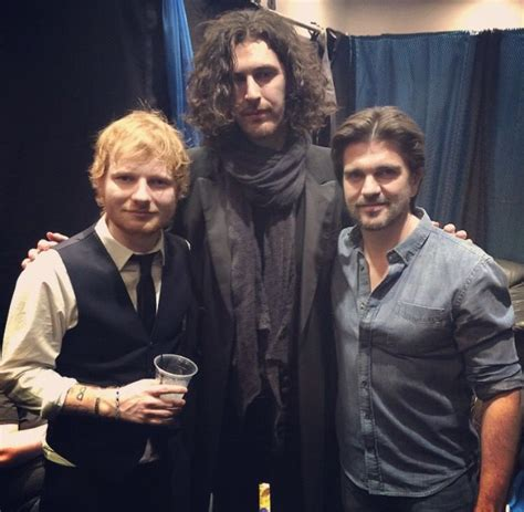 hozier def ed sheeran hozier and juanes at the 2015 grammy awards