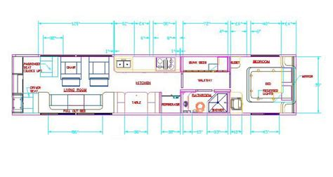 bus floor plans floorplan009 jpg 671 215 358 home in a bus caravan trailer pintere