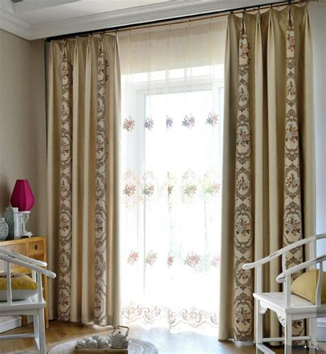 damask bedroom curtains beige damask embroidery chenille thermal bedroom curtains