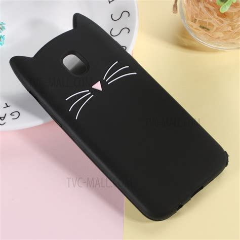 Samsung Galaxy J7 Pro Soft Silicon Karakter 3d Timbul Back Cover 3d moustache cat silicone cover for samsung galaxy j7 pro 2017 j7 2017 eu version black