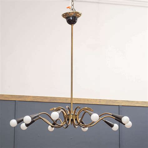 Italian Chandelier Style Italian Chandelier In The Style Of Stilnovo At 1stdibs