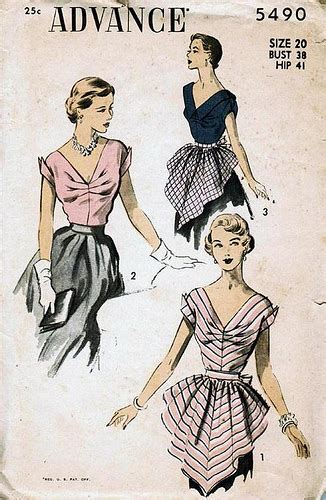 vintage patterns 1950s a 1849940940 vintage sewing pattern 1950s hostess blouse and apron flickr