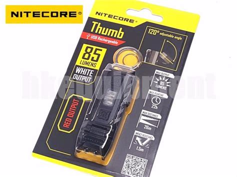 Nitecore Thumb Dual Color Led Usb Rechargeable Keychain Light nitecore thumb rechargeable usb pocket keychain led flashlight