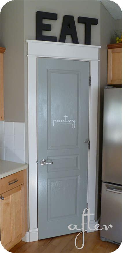 Painted Pantry Door by Suite Bliss Pantry Door