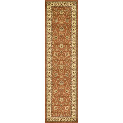 rug runners 2 x 10 unique loom agra brick 2 ft 7 in x 10 ft runner rug 3123575 the home depot