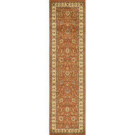 10 Ft Rug - unique loom agra brick 2 ft 7 in x 10 ft runner rug