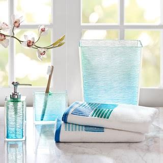 Sea Glass Bathroom Accessories Park Seaglass Bath Accessory 5 Set Overstock Shopping The Best Prices On