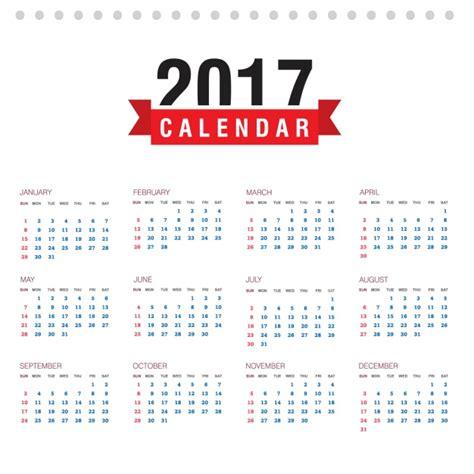 Calendario 2017 Colombia Vector Dise 241 O De Calendario De 2017 Descargar Vectores Gratis