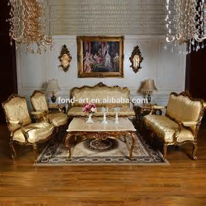 fabric antique gold european style set sofa from dongguan