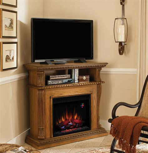 corner entertainment center fireplace 42 corinth premium oak entertainment center wall and