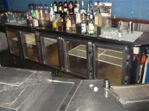 bar fridge 5 door stainles steel bench top speed rack