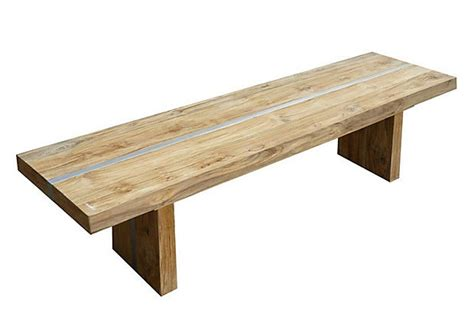 bench plateau plateau trestle bench teak silver end of teak and