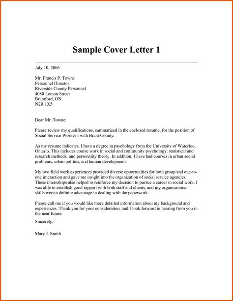 social work cover letter 10 application letter for volunteer free sle exle sle