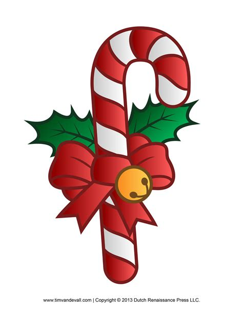 Free Candy Cane Template Printables Crafts Clipart