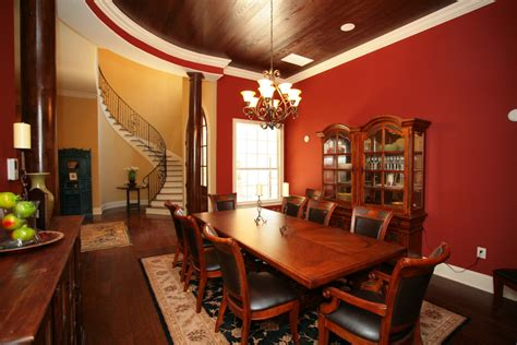 living room photo gallery images of dining room with dark floors red room design