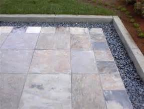 Design For Outdoor Slate Tile Ideas Pebble Border Design My Outdoor Sanctuary Patio And Entry Desig