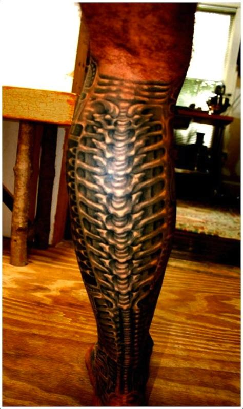 biomechanical leg tattoo designs 148 biomechanical for geeks