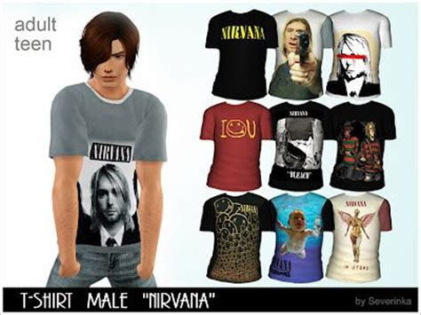 sims 3 men custom content male female clothing nirvana t shirts the sims 3