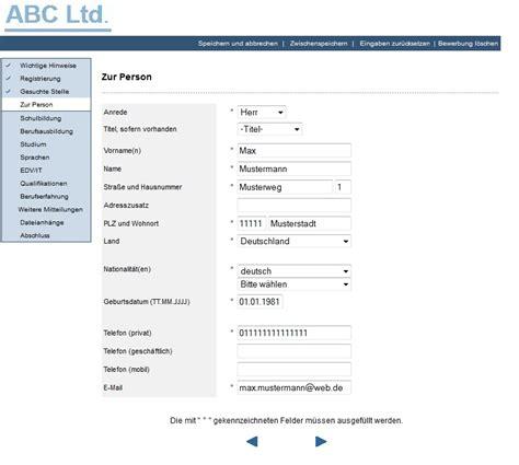 Bewerbungsformular Arbeitgeber Bewerbungskan 228 Le