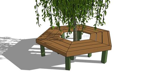 circular tree bench plans tree bench outdoor furniture plans pinterest tree