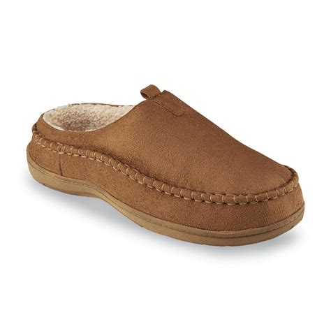dockers mens slippers dockers s microsuede mule slipper shop your way