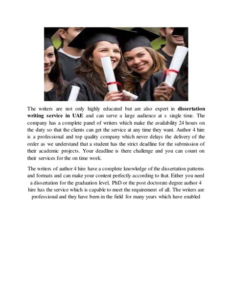 dissertation writers for hire dissertation writing service uae