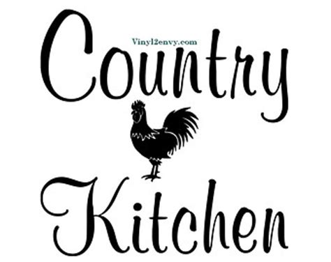 Black Kitchen Cabinet Ideas rooster decals etsy