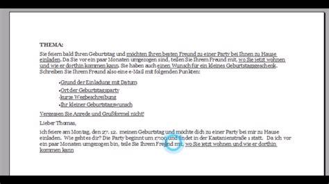 Deutsche Brief Beispiel pr 252 fung modul quot schreiben quot a 1 a 2 b 1 der