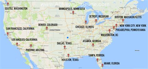 nuclear map usa map shows which us cities might be targeted in